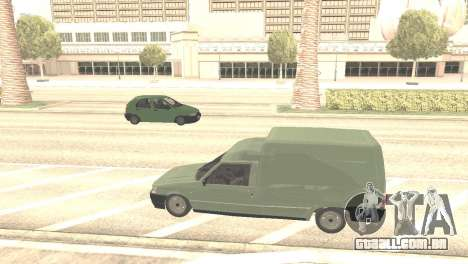 Fiat Fiorino Fire 07 para GTA San Andreas vista traseira