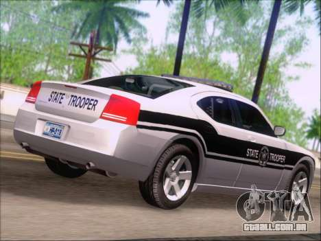 Dodge Charger San Andreas State Trooper para GTA San Andreas vista traseira