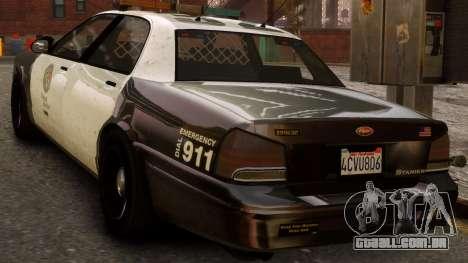 GTA V Police Cruiser para GTA 4 esquerda vista