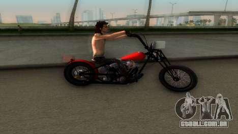 Harley Davidson Shovelhead para GTA Vice City vista traseira esquerda