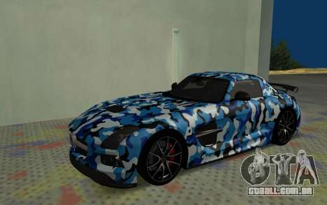 Mercedes-Benz SLS AMG 2013 Black Series para GTA San Andreas vista superior