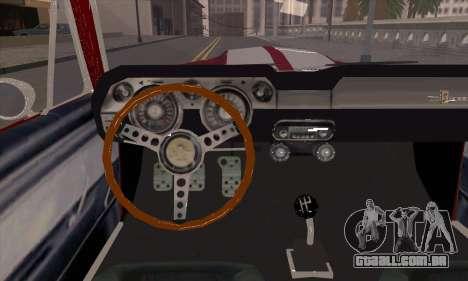 Shelby GT500 E v2.0 para GTA San Andreas vista interior