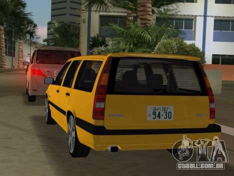 Volvo 850 R Estate para GTA Vice City vista traseira
