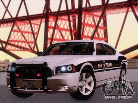 Dodge Charger San Andreas State Trooper para GTA San Andreas esquerda vista
