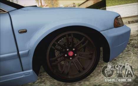 Audi S4 Hellaflush para GTA San Andreas vista traseira