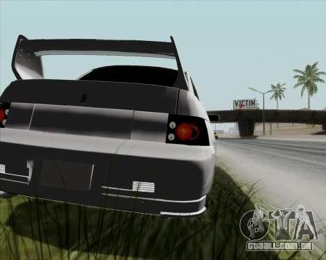VAZ 2110 v2 para GTA San Andreas vista traseira