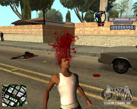 C-HUD by olimpiad para GTA San Andreas terceira tela