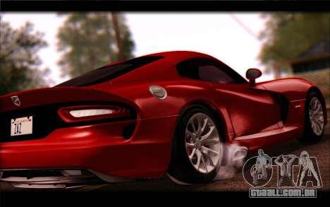 SRT Viper Autovista para GTA San Andreas traseira esquerda vista