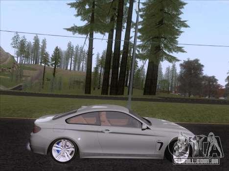 BMW F32 4 series Coupe 2014 para GTA San Andreas traseira esquerda vista