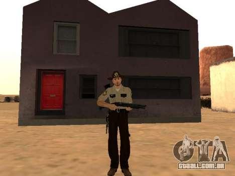 Rick Grimes para GTA San Andreas segunda tela