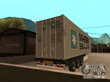 Reboque MAERSK para GTA San Andreas esquerda vista