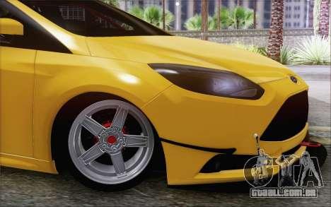 Ford Focus ST para GTA San Andreas traseira esquerda vista