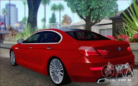BMW 6 Gran Coupe v1.0 para GTA San Andreas esquerda vista