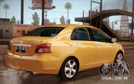 Toyota Vios 2008 para GTA San Andreas esquerda vista