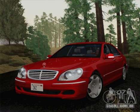 Mercedes-Benz S600 Biturbo 2003 para GTA San Andreas esquerda vista