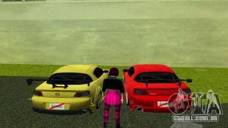 Mazda RX8 Type 1 para GTA Vice City vista traseira esquerda