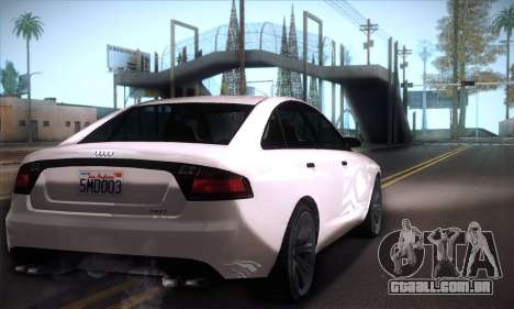 GTA V Tailgater para GTA San Andreas vista direita