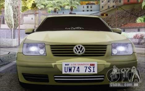 Volkswagen Bora Stance para GTA San Andreas vista direita