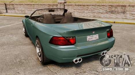 GTA V Zion XS Cabrio para GTA 4 traseira esquerda vista