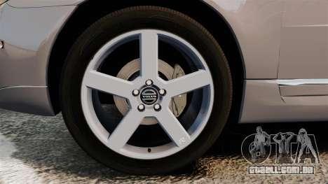 Volvo V70 Unmarked Police [ELS] para GTA 4 vista de volta