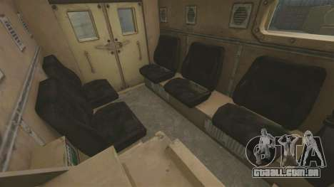 Cougar MRAP 4X4 para GTA 4 vista interior