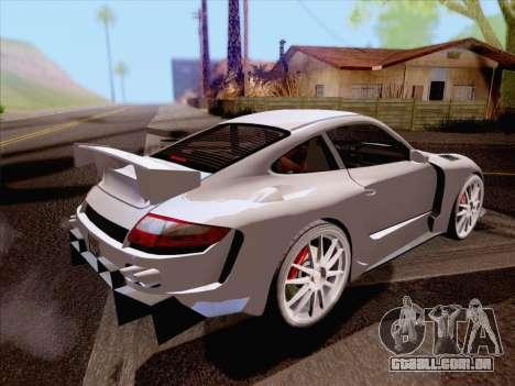 Porsche Carrera S para GTA San Andreas traseira esquerda vista