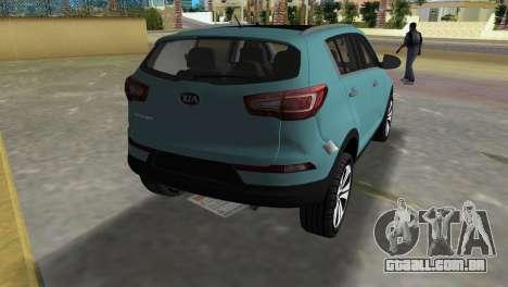 Kia Sportage para GTA Vice City vista traseira esquerda