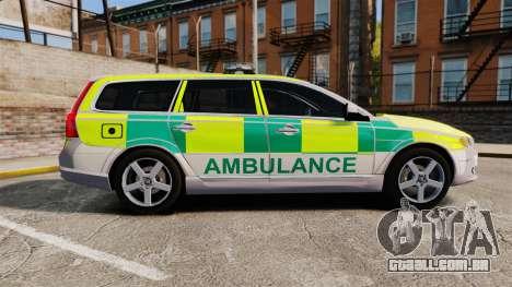 Volvo V70 Ambulance [ELS] para GTA 4 esquerda vista