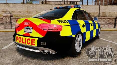 Audi S4 Police [ELS] para GTA 4 traseira esquerda vista