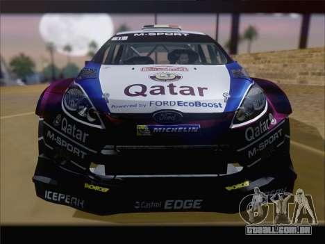 Ford Fiesta RS WRC 2013 para GTA San Andreas vista interior