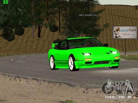 Nissan 240SX Drift Version para GTA San Andreas vista interior