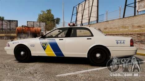 GTA V Vapid State Police Cruiser [ELS] para GTA 4 esquerda vista