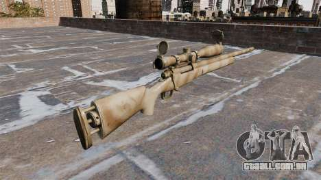 O rifle sniper M24 SWS para GTA 4 segundo screenshot