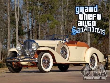 New loadscreen Old Cars para GTA San Andreas sexta tela
