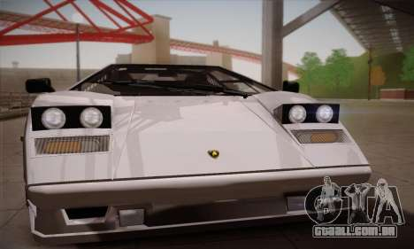 Lamborghini Countach 25th Anniversary para GTA San Andreas traseira esquerda vista