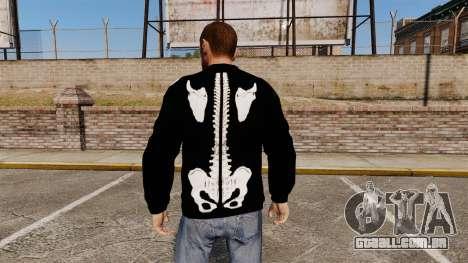 Camisola preta-esqueleto - para GTA 4 segundo screenshot
