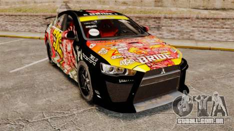 Mitsubishi Lancer Evolution X Ryo King para GTA 4