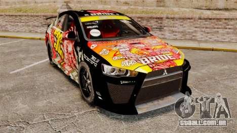 Mitsubishi Lancer Evolution X Ryo King para GTA 4