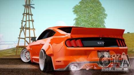 Ford Mustang Rocket Bunny 2015 para GTA San Andreas traseira esquerda vista