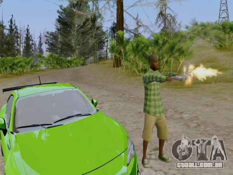 O membro da gangue Grove Street de GTA 5 para GTA San Andreas por diante tela