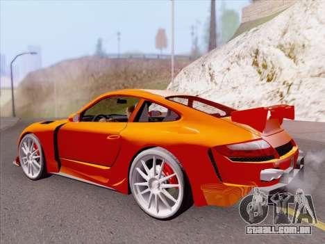 Porsche Carrera S para GTA San Andreas vista inferior