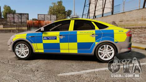 Ford Mondeo Metropolitan Police [ELS] para GTA 4 esquerda vista