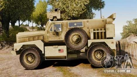 Cougar MRAP 4X4 para GTA 4 esquerda vista
