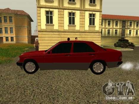 Mercedes-Benz 190E para GTA San Andreas esquerda vista