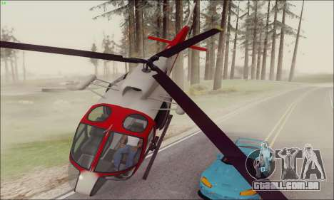 GTA V Ambulacia Maverick para GTA San Andreas esquerda vista