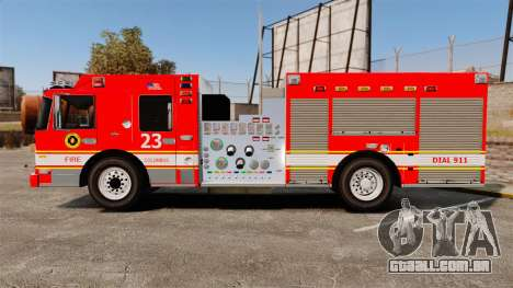 Division on Fire Columbus Firetruck [ELS] para GTA 4 esquerda vista