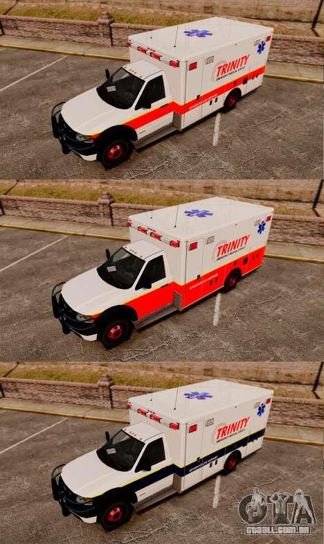 Landstalker L-350 Trinity EMS Ambulance [ELS] para GTA 4 vista de volta