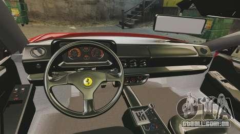 Ferrari Testarossa 1986 v1.1 para GTA 4 vista de volta
