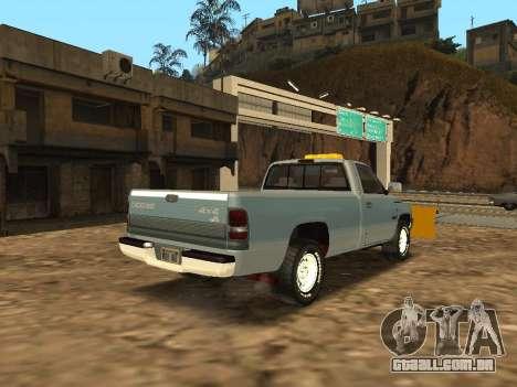 Dodge Ram para GTA San Andreas traseira esquerda vista