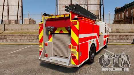Firetruck Woonsocket [ELS] para GTA 4 traseira esquerda vista
